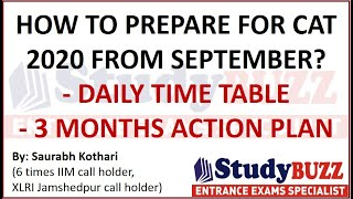 How to prepare for CAT 2020 from September? 90 days study plan by 6 times IIM call holder