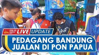 Datang Jauh-jauh dari Bandung, Pepen Coba Peruntungan dengan Jualan Baju di Venue PON Papua