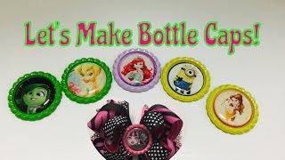 DIY Character Bottle Caps