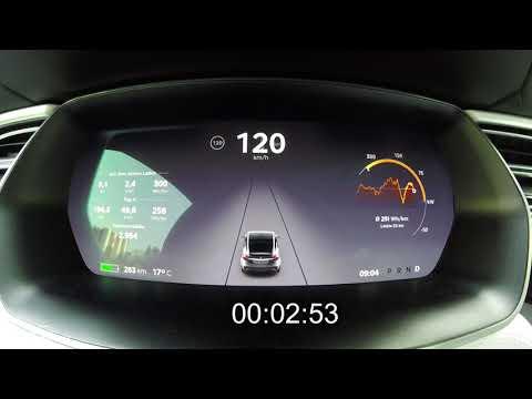 Tesla Model X 100D (386 kW / 525 PS): Beschleunigung 0 - 225 km/h - Autophorie