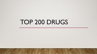 Top 200 Drugs Pronunciation (Generic names/ Brand names)