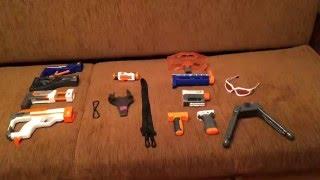 Обзор Моей Коллекции Бластеров Нёрф(NERF) и всех стрел,модулей и обойм!!!!!