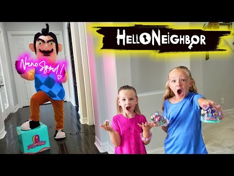 Hello Neighbor in Real Life Tiny House Toy Scavenger Hunt! New Nanables Found!