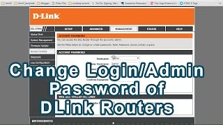 How to change login Password or Admin password on D-Link routers[DSL 2750U] and other DLink Routers
