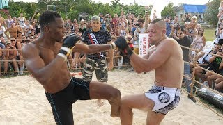 BLACK PANTHER vs RUGBY PLAYER, MONSTER MMA !!! 1 vs 2 !!!!