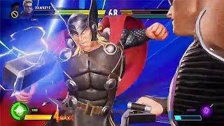 Marvel VS Capcom Infinite HULK/HAWKEYE vs THOR/STRIDER NEW GAMEPLAY