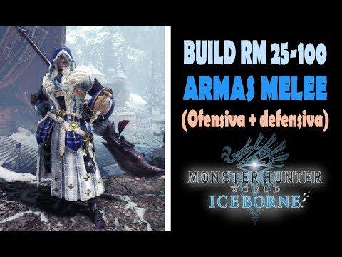 BUILD GLOBAL POST-GAME (RM 25-100) Ofensiva + defensiva - MHW Iceborne (Gameplay Español)