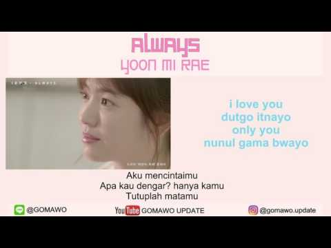 LIRIK YOON MIRAE - ALWAYS [LIRIK KOREA, INDONESIA & MV] Mp3