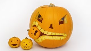How to Carve a Pumpkin Eating a Pumpkin - Halloween - Video Youtube