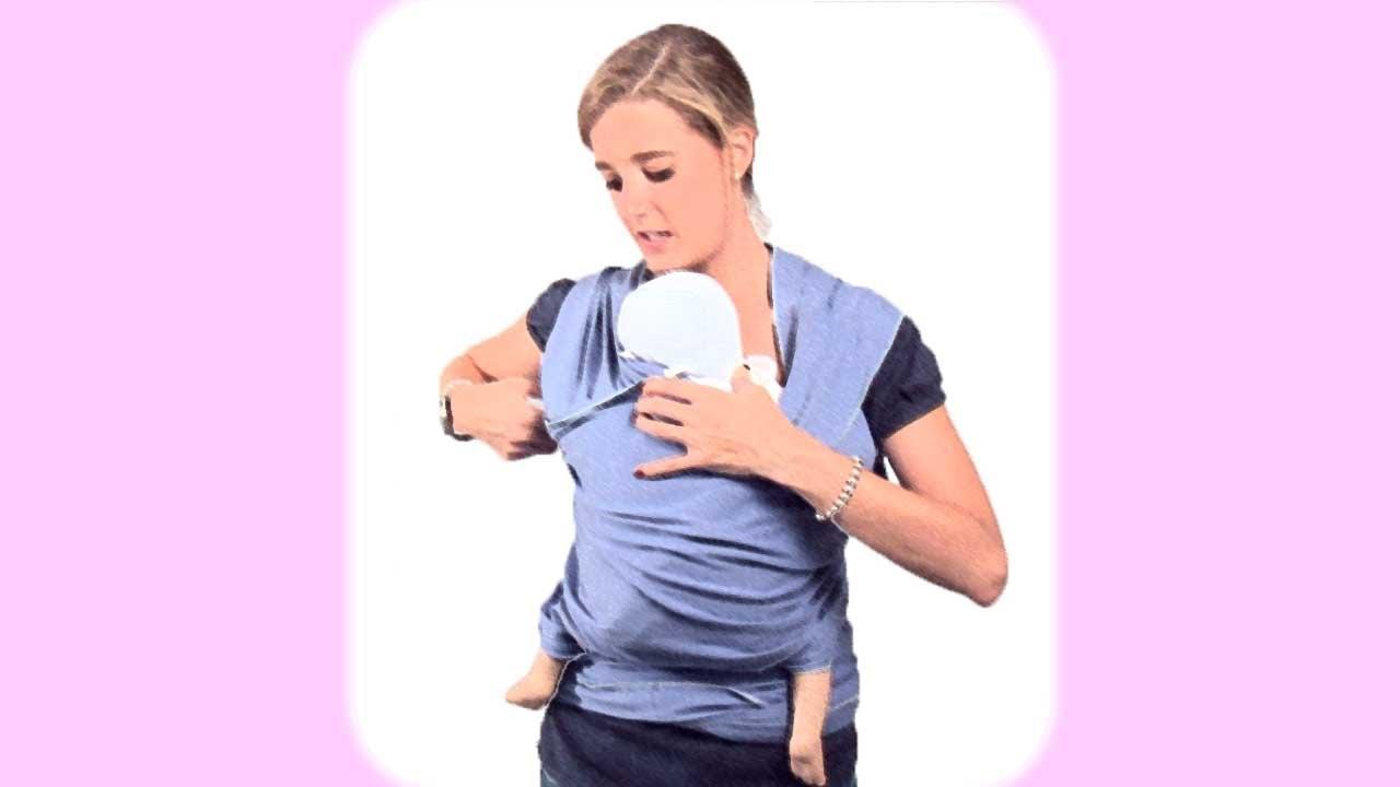 Porteo. Llevar al bebé con un elástico preanudado