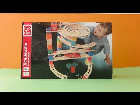 Hape Toys Xcellerator Quadrilla Marble Run Review