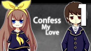 """Confess My Love - """"AMAZING"""" Senpai Notices Me Game ( Ending 1-9 )Manly Let's Play [ 1 ]"""