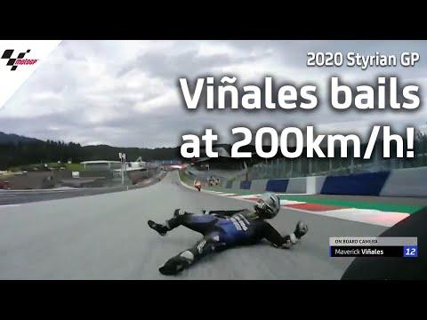 Viñales' scary crash at over 200kmh   2020 Styrian GP