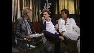 Martin and Gary interview with the BBC at Live Aid 7131985