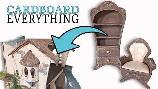 Cardboard Living Room Furniture!! DIY With Free Patterns!!