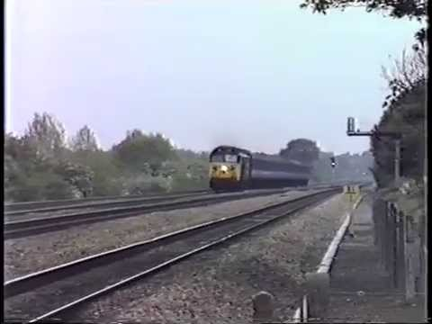 class 50-043 Eagle heads a up express through twyford.