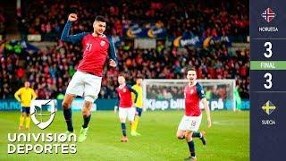 Noruega 3-3 Suecia - GOLES Y RESUMEN - GRUPO F - ELIMINATORIAS – Eurocopa
