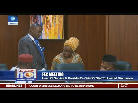 FEC Meeting: HoS & Buhari's Chief Of Staff In Heated Discussion