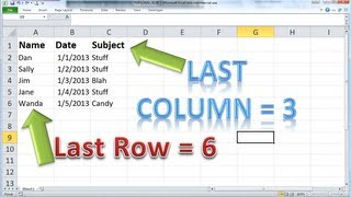 Excel VBA Basics #8 - Find the LAST ROW or COLUMN dynamically and clearing out your last report