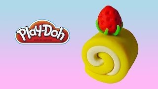 Play Doh Strawberry Cake Roll