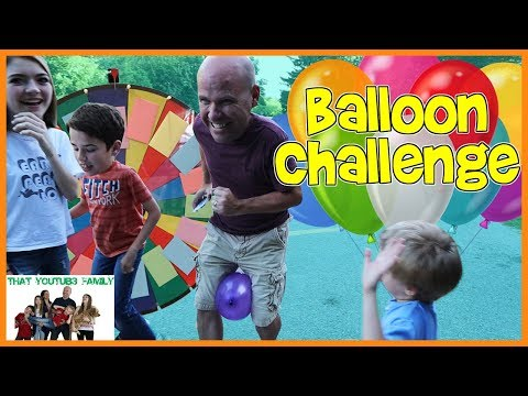 Spin The Wheel Balloon Challenge / That YouTub3 Family