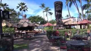 preview picture of video 'A morning walk around the beautiful Kaanapali Beach Hotel'