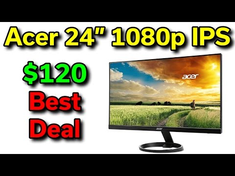 Acer 24″ 1080p Monitor – $120 – Best Deal