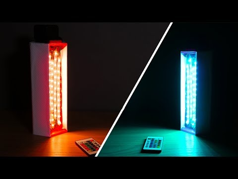 3D PRINTED Colored Ambient Light –  DIY RGB Video Light!