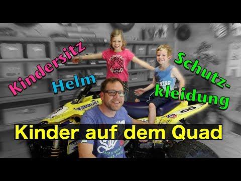Kinder auf dem Quad - Kindersitz, Helm, Kleidung / ToxiQtime