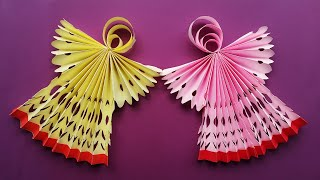 DIY Christmas Angel Ornaments | How To Make A Paper Angel For Christmas Decorations