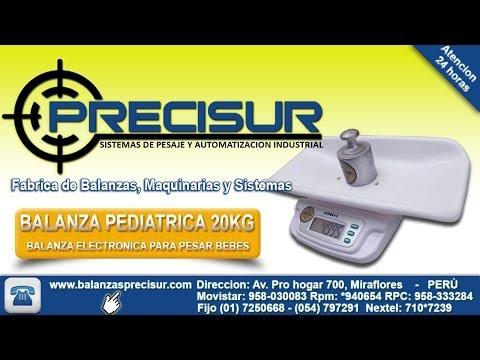 Balanza electrónicas pediatricas pesa bebes de 20 kg - Balanzas Precisur