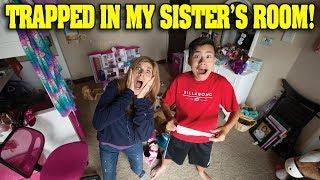 TRAPPED IN MY SISTER'S ROOM!!! Jillian's Secret Escape Room!