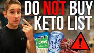 "THE ""DO NOT"" BUY KETO SNACK LIST!"