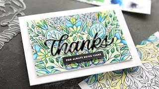 Using Simon Watercolor Coloring Sheets for a Card