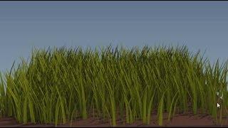 Создание травы в Blender.