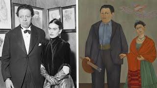 Frida Kahlo And Diego Riveras Wedding Portrait