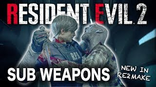 Resident Evil 2 Remake | Sub Weapons & The Knife | Self Defense Items & Theory