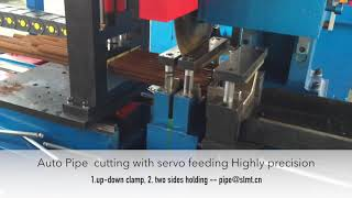 auto pipe cutting with up down hold clamp