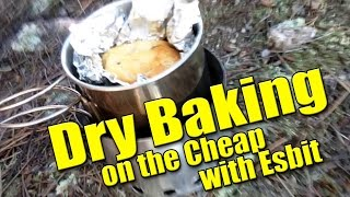 Dry Baking a Muffin on the Cheap with 1 Esbit cube
