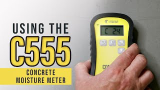 Concrete Moisture Meter: What is the C555