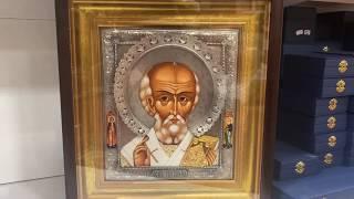 """Икона из серебра """"Святой Николай"""" от компании Іконна лавка - видео"""
