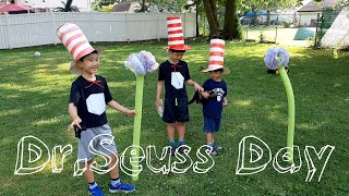 Dr. Seuss Day Craft | The Cat In The Hat & Truffula Trees | 집콕놀이 | 쌍둥이 육아