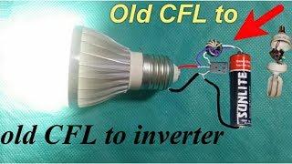 Old CFL Bulb to Super Inverter Using 1.5v Battery - Make Easy