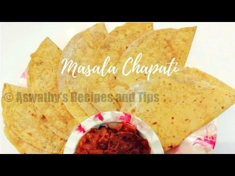 മസാല ചപ്പാത്തി | Masala Chapathi | Masala Roti