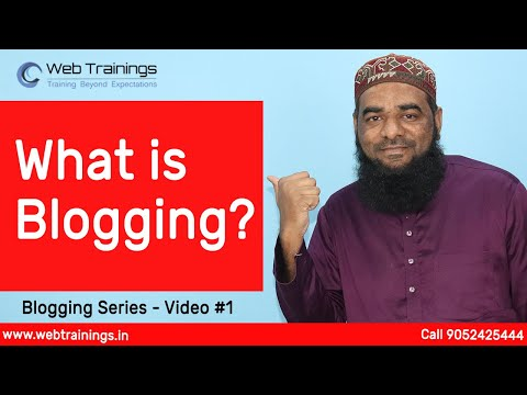 What is Blogging | Blogging Course For Beginners in English | Video ...