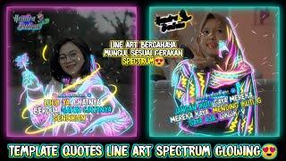 Cara Membuat Quotes Keren Efek Line Art Spectrum Bercahaya di Aplikasi Avee Player