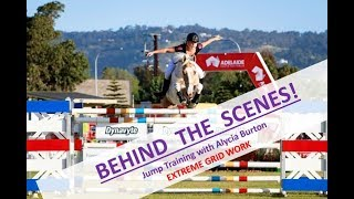 Behind the scenes- Jump training with Alycia Burton