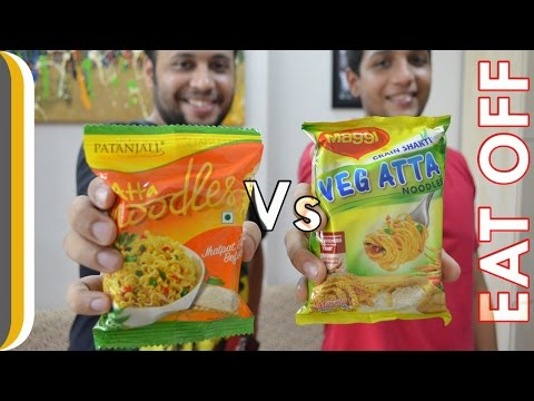 , title : 'Patanjali atta noodles VS Maggi atta noodles | Eat Off ! [Hindi]'