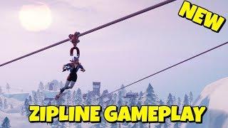 New Fortnite Zip Line Gameplay Video Video