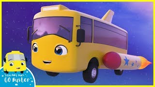 Buster the Rocket Bus Goes Space Exploring | Go Buster | Baby Cartoons | Kids Videos | ABCs and 123s